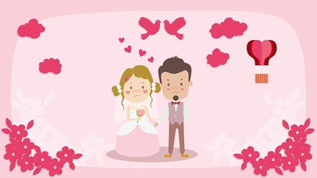 wedding cartoon marry couple llustration image illustration image