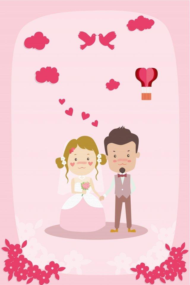 wedding cartoon marry couple llustration image