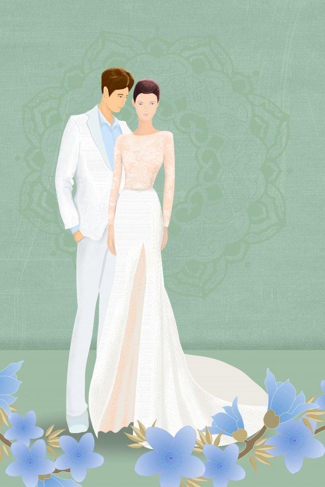 結婚式の高寒いウェディングドレスドレス イラスト素材 イラスト画像