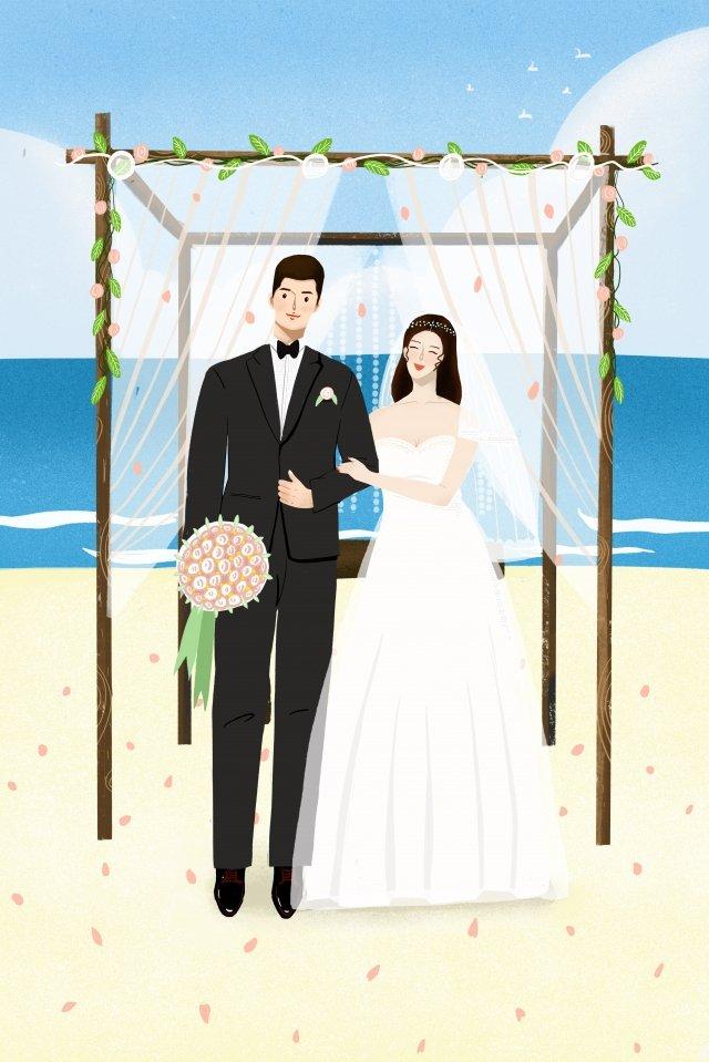 結婚式結婚結婚ロマンチック イラスト素材 イラスト画像