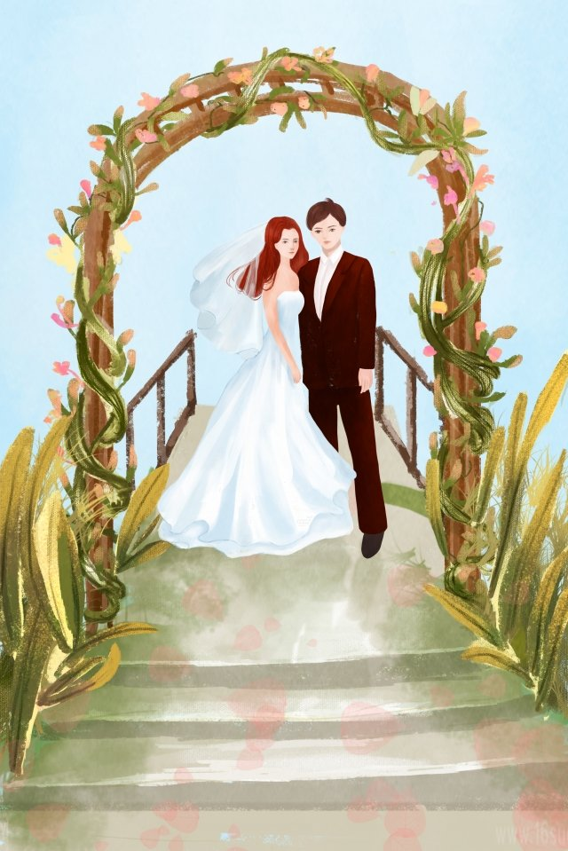 wedding wedding festival happy llustration image
