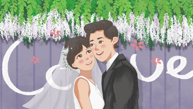 wedding wedding marry couple llustration image
