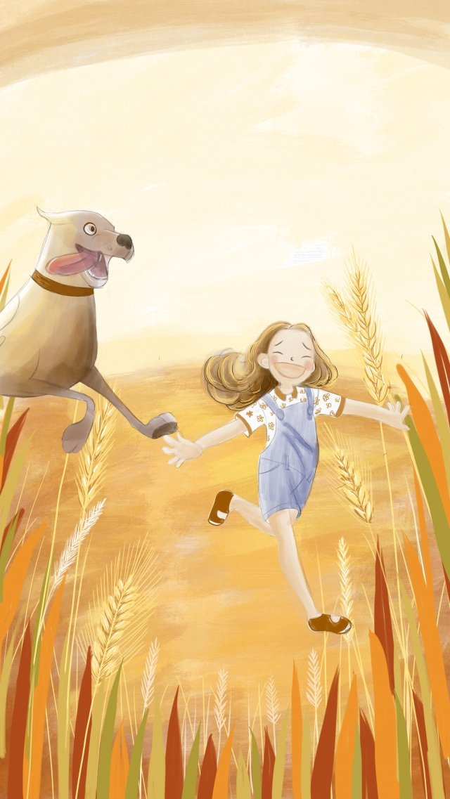 小麦畑ソーラー用語ゴールドチャイルド イラスト素材 イラスト画像
