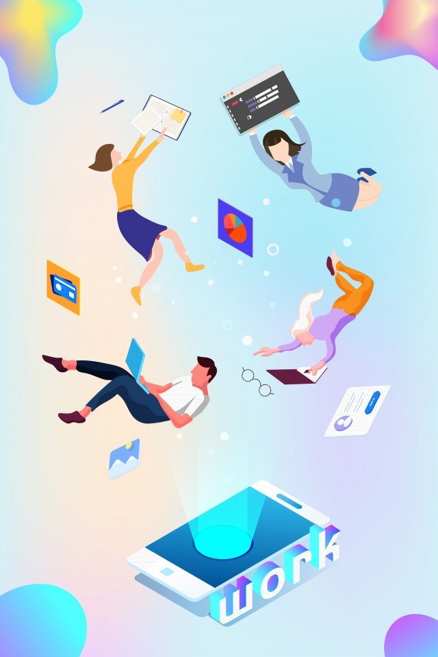 white collar business workplace business, Office, Float, Business illustration image