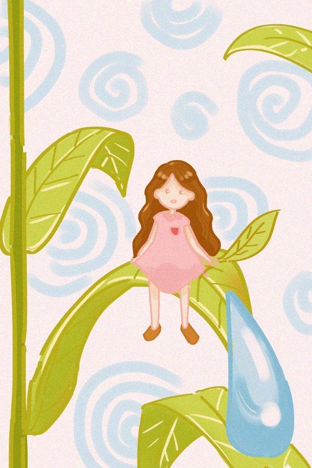 ホワイト露植物少女露 イラストレーション画像 イラスト画像