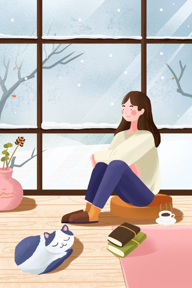 winter great cold osamu heavy snow illustration image