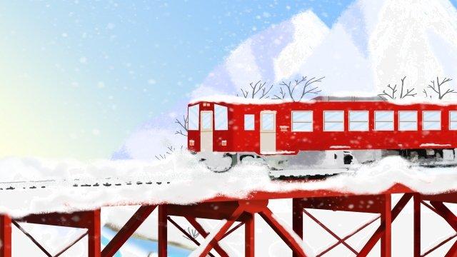 冬の大雪ソーラー用語手描き イラスト素材