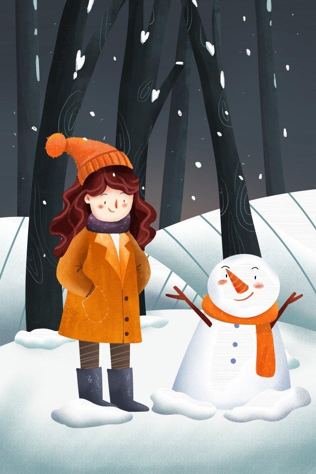 Lễ hội tuyết minh họa Mùa đông Minh họa MinhSĩ  Mùa  Rơi PNG Và PSD illustration image
