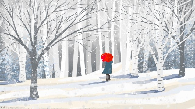 winter landscape snow scene winter llustration image