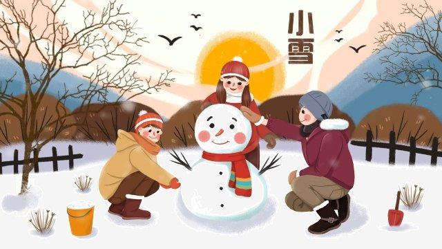 겨울 빛 눈 이른 겨울 눈이 삽화 소재 삽화 이미지