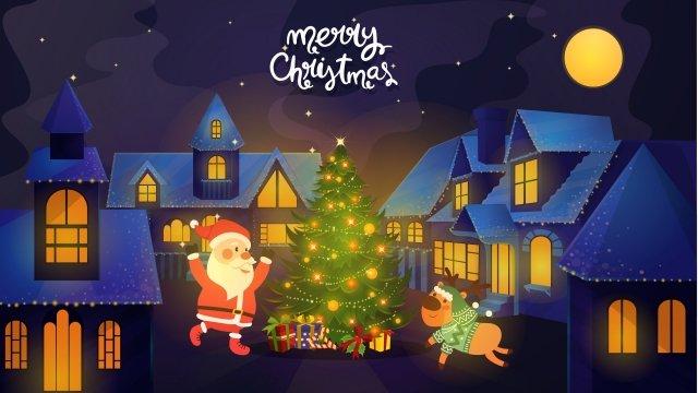 أقات أثناء الشتاء، الليل، تصوير، شجرة عيد الميلاد، christmas مواد الصور المدرجة