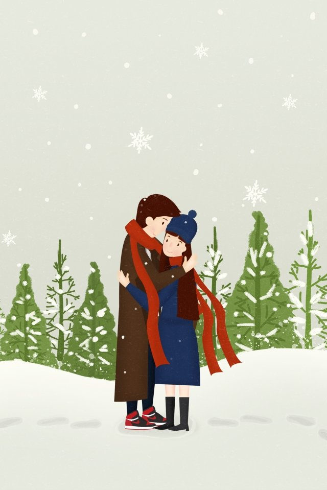 winter snowing heavy snow light snow, Osamu, Winter Clothing, Scarf illustration image