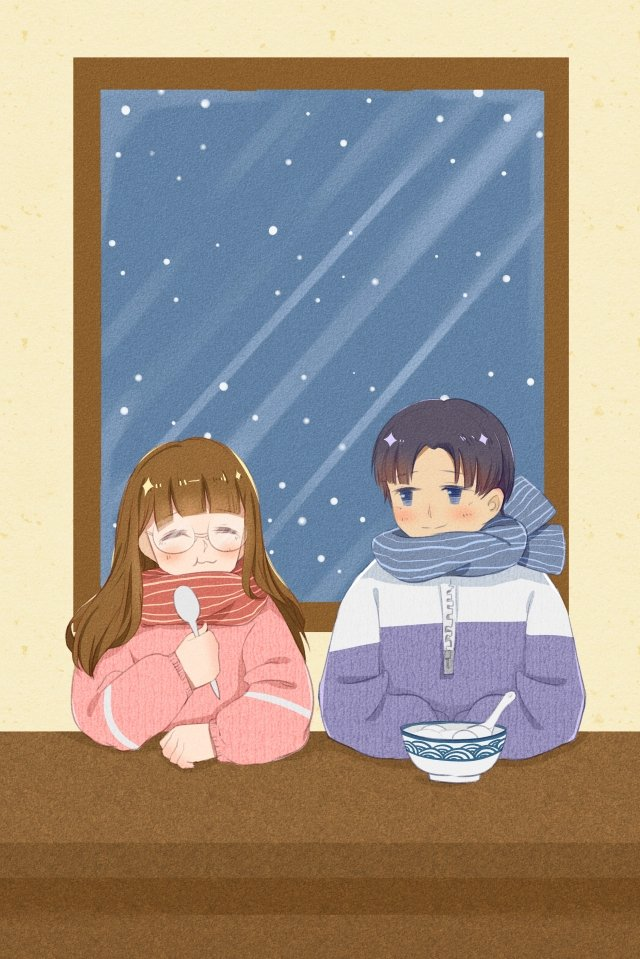 winter solstice winter snowing couple llustration image illustration image