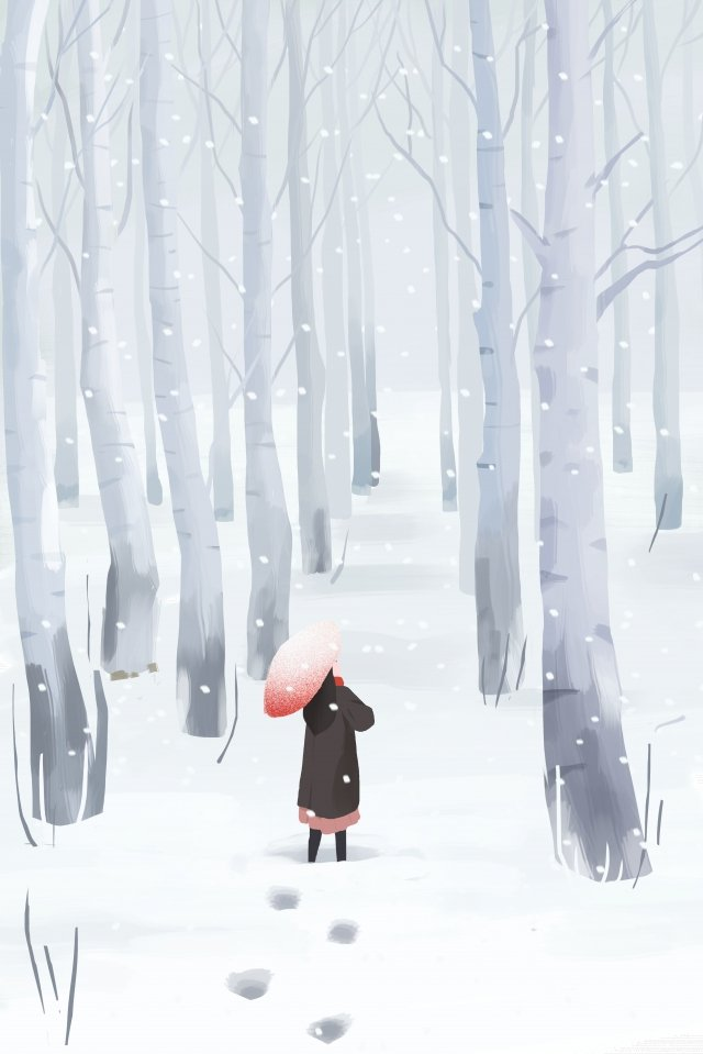 winter winter great cold osamu illustration image