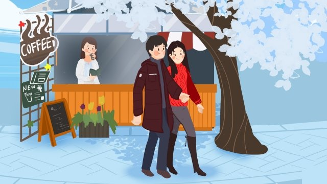 winter winter heavy snow light snow, Great Cold, Osamu, New Years illustration image