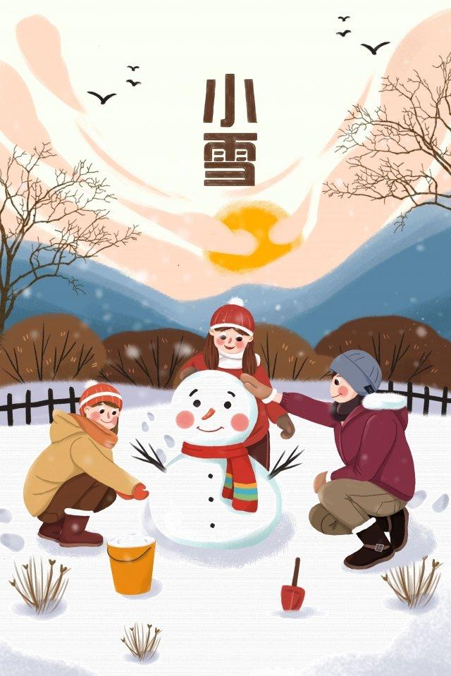 winter winter light snow early winter, Snowing, Make A Snowman, Snowman illustration image