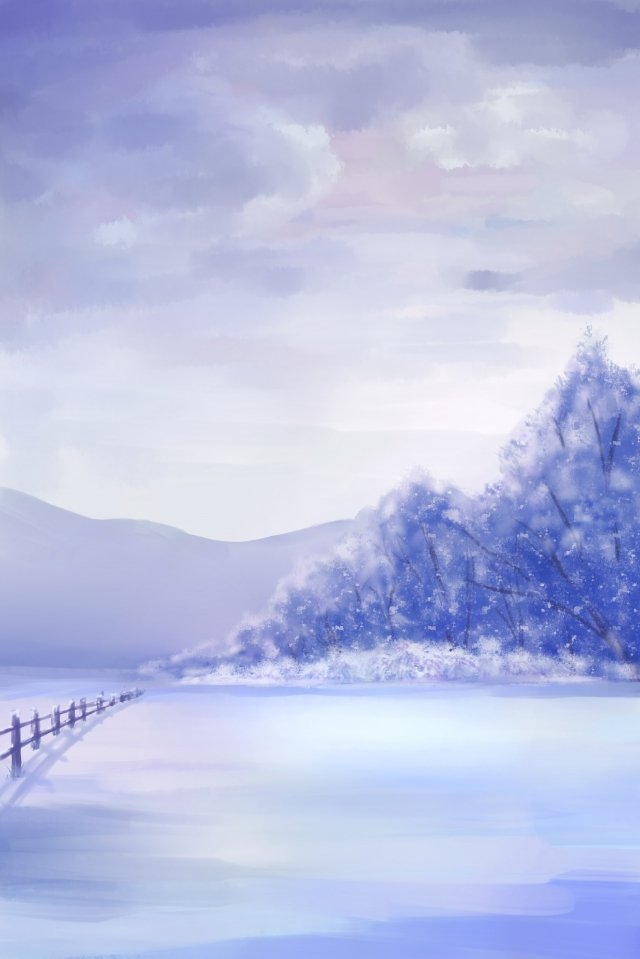 winter winter snow purple llustration image