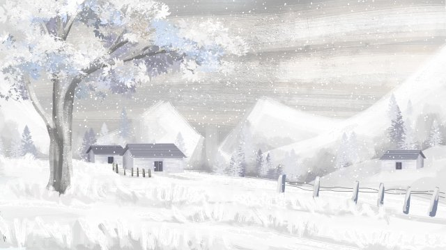 winter winter snow scene deep winter llustration image illustration image