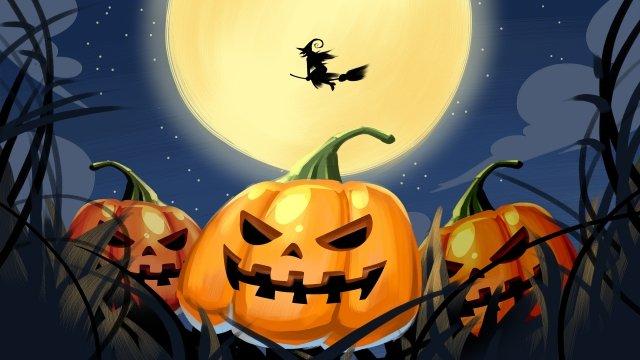 phù thủy bí ngô halloween kinh dị Hình minh họa