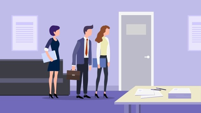 workplace interview jobs white collar llustration image