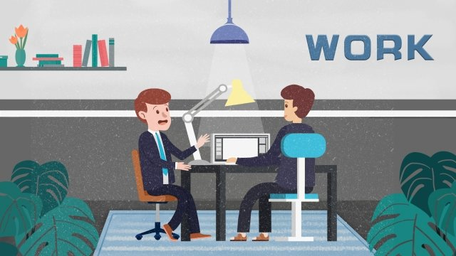 workplace jobs interview staff llustration image
