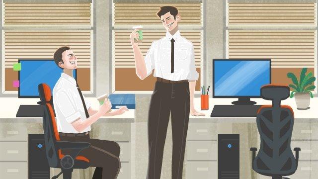 nhân viên văn phòng cà phê Hình minh họa Hình minh họa