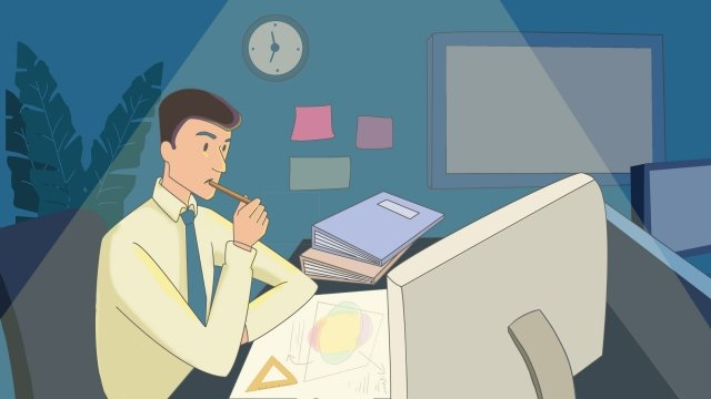 workplace overtime work hard jobs llustration image