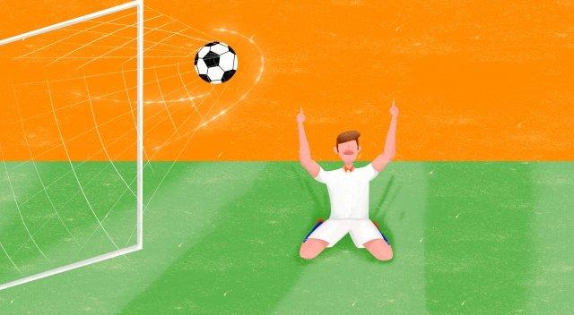 ワールドカップサッカー選手イベント イラスト素材