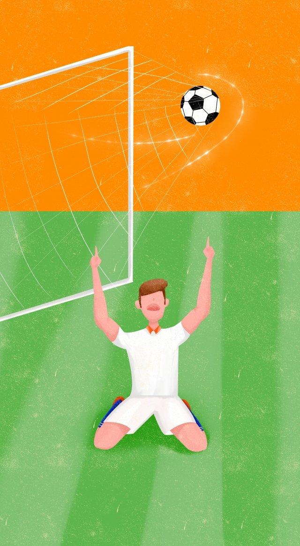 ワールドカップサッカー選手イベント イラスト画像