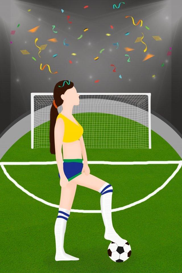 world cup football football baby kick the ball, Lawn, Goal, Beauty illustration image