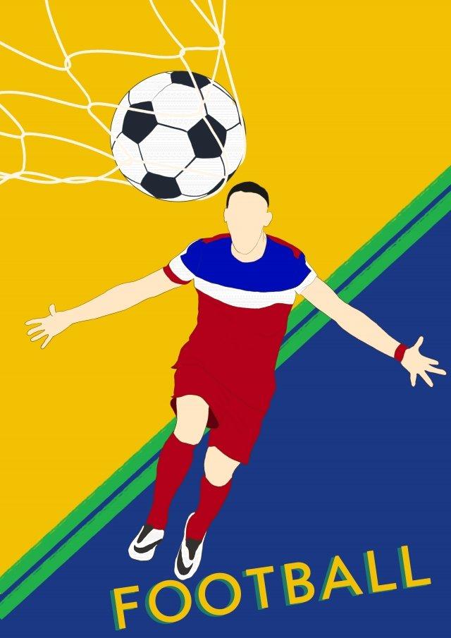 ワールドカップサッカーの試合の手描きの漫画 イラスト画像