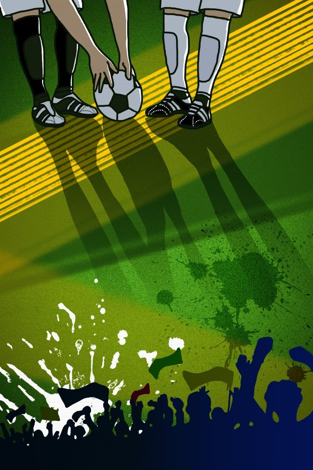 world cup game football green, Vertical Map, Passion, Cheer illustration image