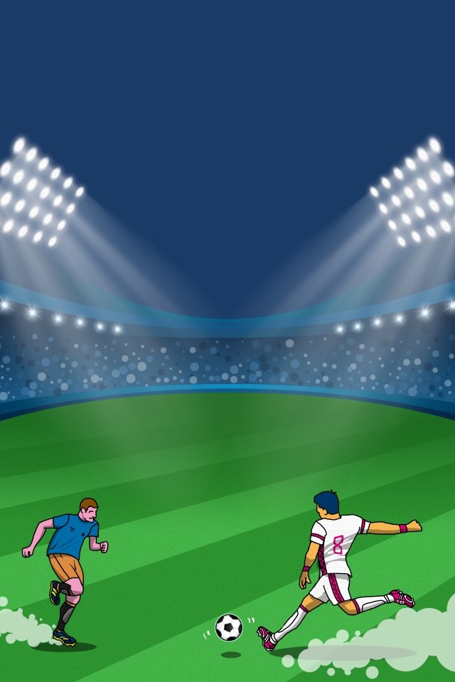 ワールドカップグリーン2018サッカー イラスト画像