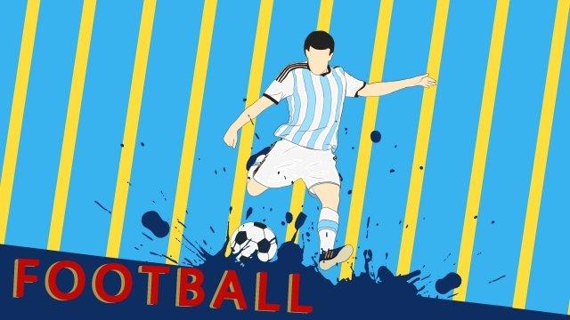 world cup vẽ tay bóng đá argentina Hình minh họa