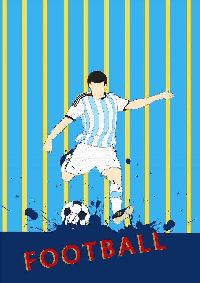 world cup vẽ tay phim hoạt hình argentina Hình minh họa