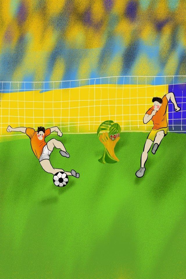 world cup vẽ tay phim hoạt hình bóng đá Hình minh họa