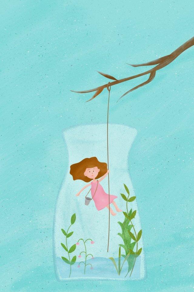 thế giới nước ngày cô gái chai nước Hình minh họa Hình minh họa
