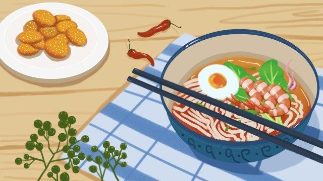 アモイ砂茶麺揚げ日付食品 イラスト素材 イラスト画像