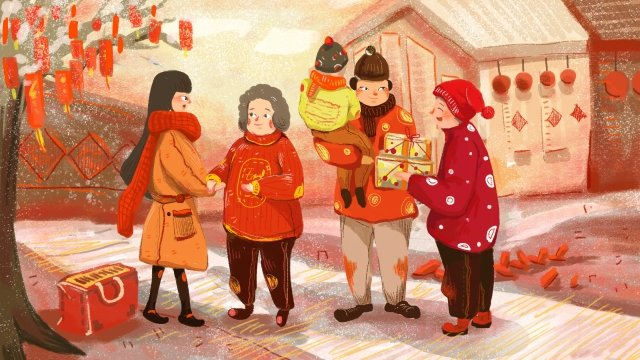 year of the pig festive 2019 china red, Neighborhood, Red Envelope, Lantern illustration image
