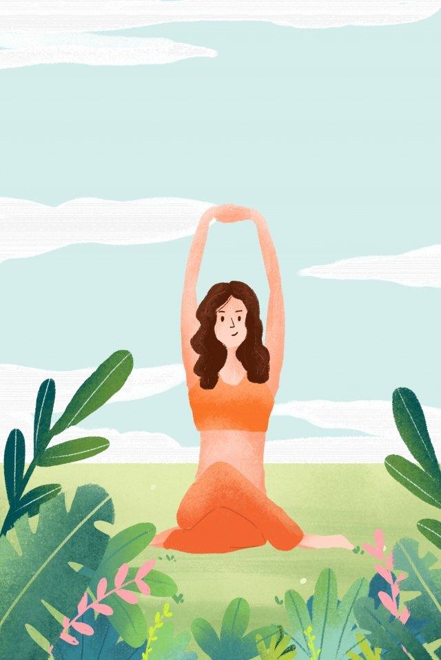 योग गति फिटनेस वजन कम चित्रण छवि