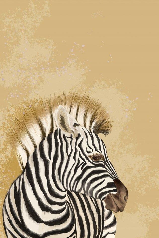 zebra avatar animais animais selvagens Material de ilustração