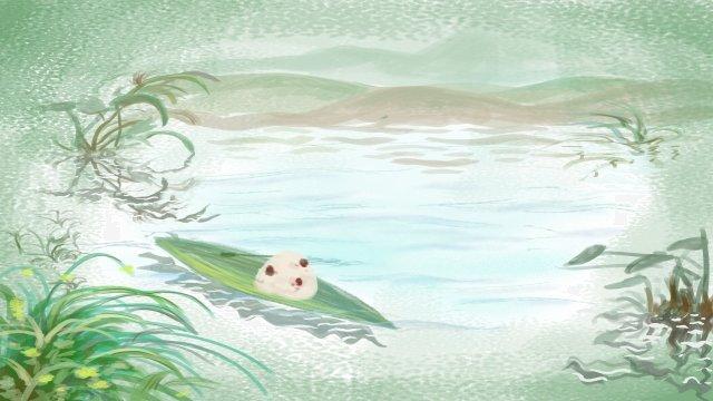 粽子龍舟節優雅的節日 插畫素材 插畫圖片