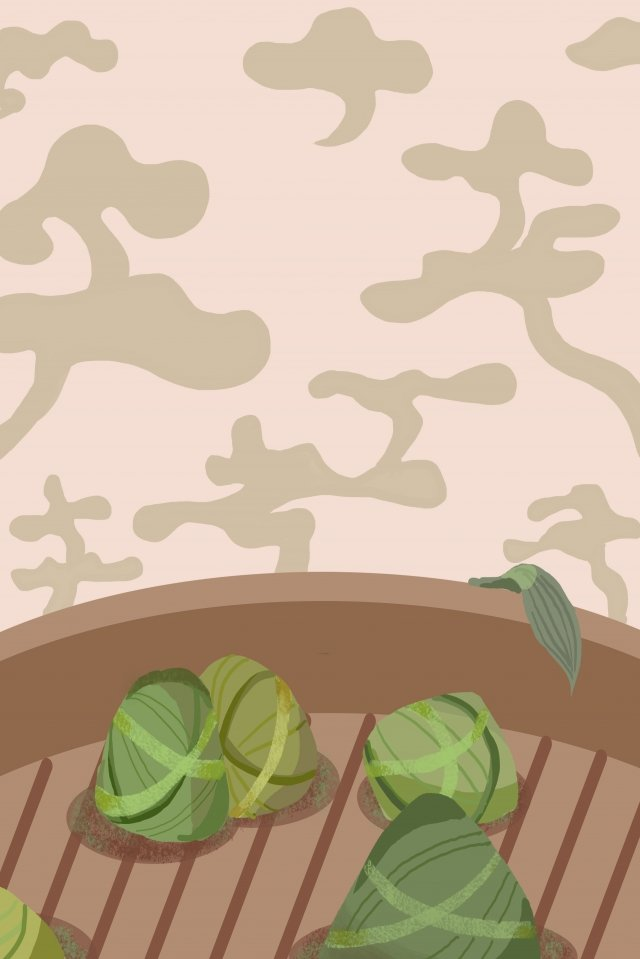 zongzi dragon boat festival elegant simple, Smoke, Homely, Festival illustration image