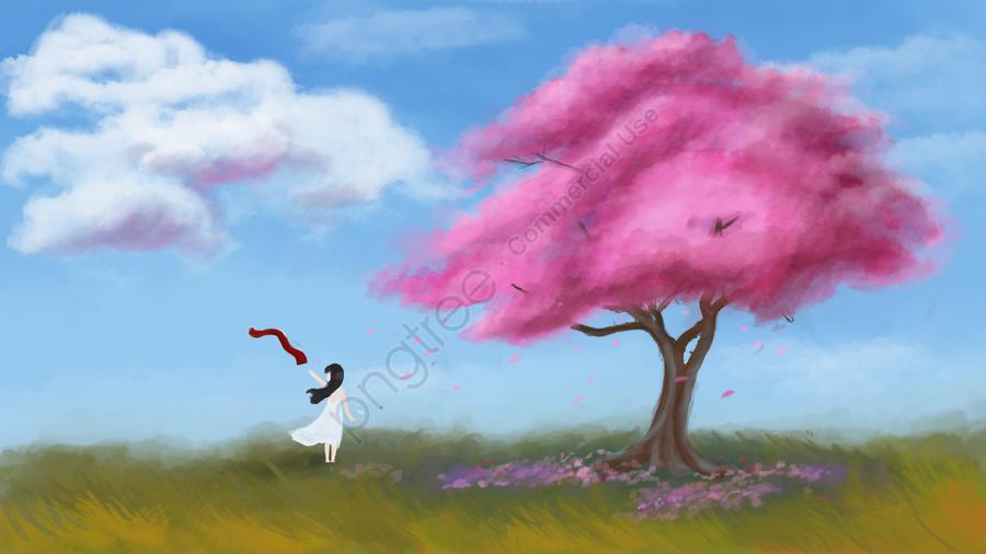 Sleeping wonderland cherry blossom, Cure, Sleepwalking Wonderland, Cherry Blossoms llustration image