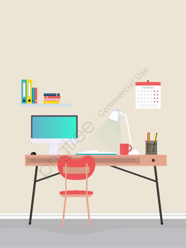 2 5d домашний офис стерео иллюстрация, 2.5d домашний офис стерео иллюстрация, Свежий и элегантный стиль иллюстрации, Интернет офис иллюстрация llustration image