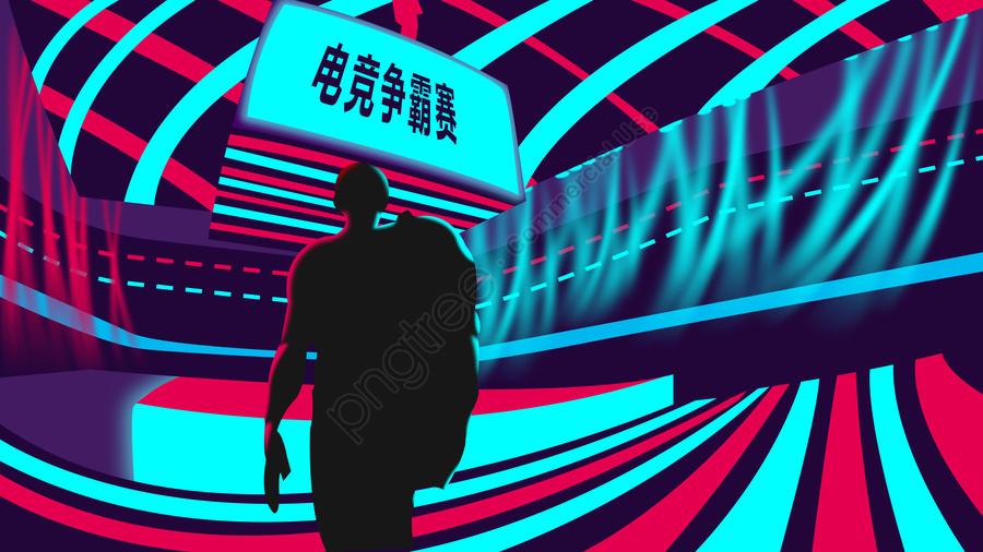 Original illustration e-sports competition, Thể Thao, Sự Kiện, Người Chơi llustration image