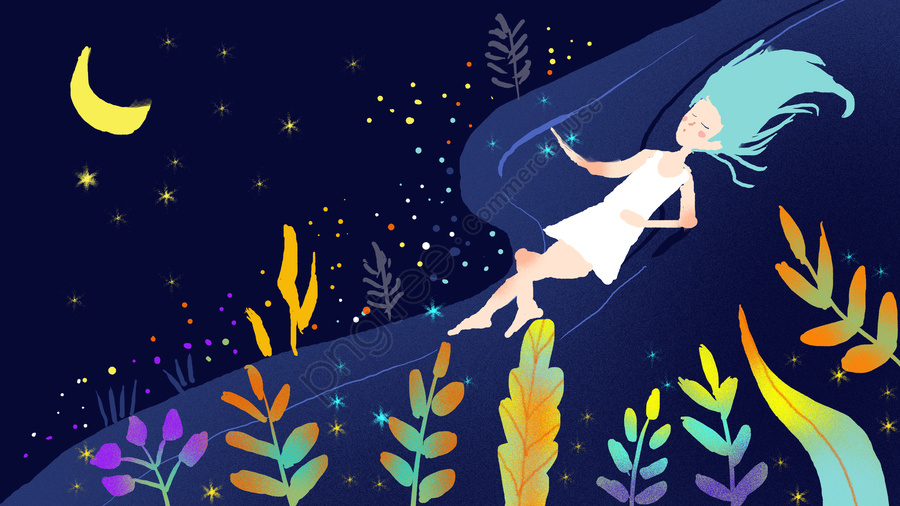 Good Night Hello Series Illustration, Good Night, Hello There, Hello llustration image