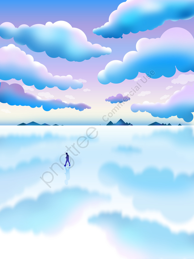 Original Small Fresh Landscape Sky Illustration Illustrator City Bolivia, Gradient, Illustration, Scene Gradient llustration image