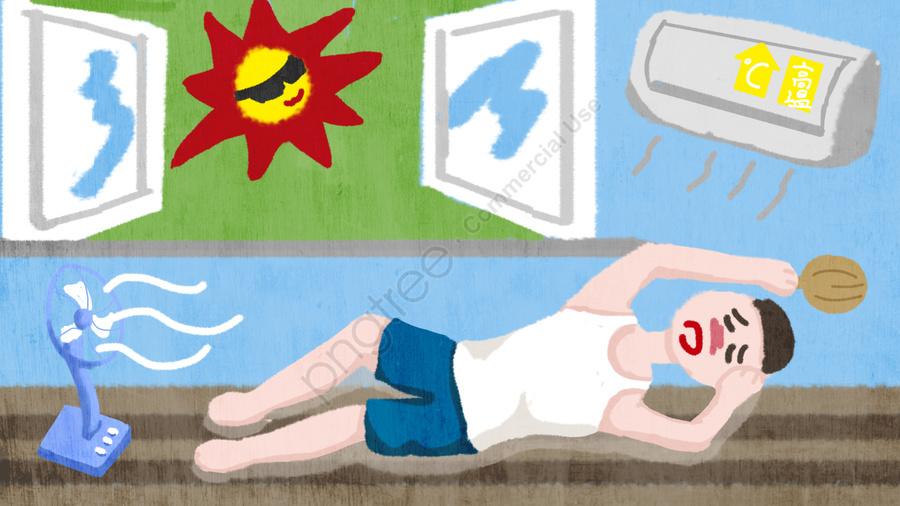 夏高温警告イラスト, 高温, 夏, 夏休み llustration image