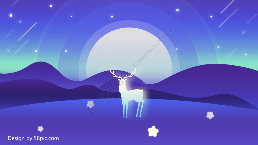 Иллюстрация градиента палевого лунного света, иллюстрация, постепенное изменение, Градиент сцены llustration image